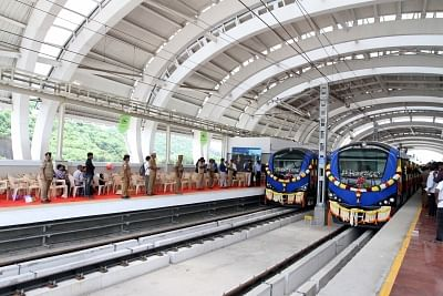 The service has clocked a punctuality rate of 98% over the past four years. Chennai Metro Train.