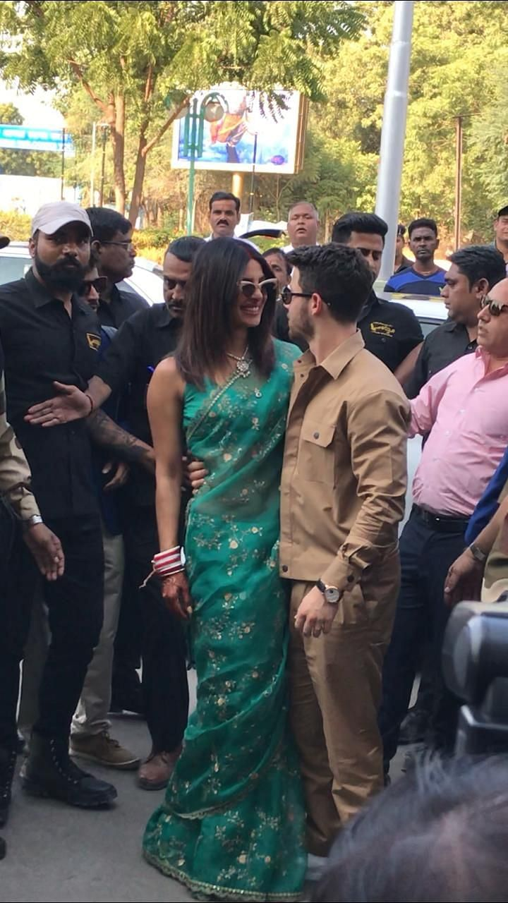 Nick and Priyanka share a moment.