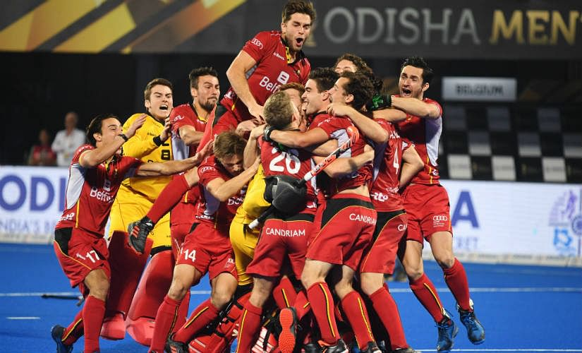 Belgium were crowned world champions for the first time after edging Netherlands on penalties in the FIH Men's Hockey World Cup 2018 final.