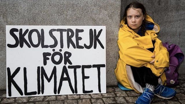 This 15-year-old activist protests for leaders to do more about climate change, every Friday outside the Swedish parliament.