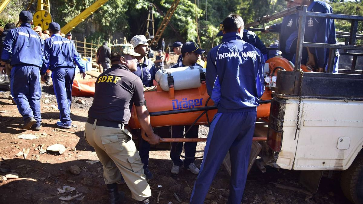 Meghalaya Mine Rescue Op: Divers Fail to Reach Bottom of Pit