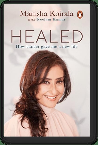 The book cover of <i>Healed</i> by&nbsp; Manisha Koirala.&nbsp;