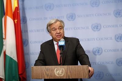 Antonio Guterres. (Xinhua/Li Muzi/IANS)