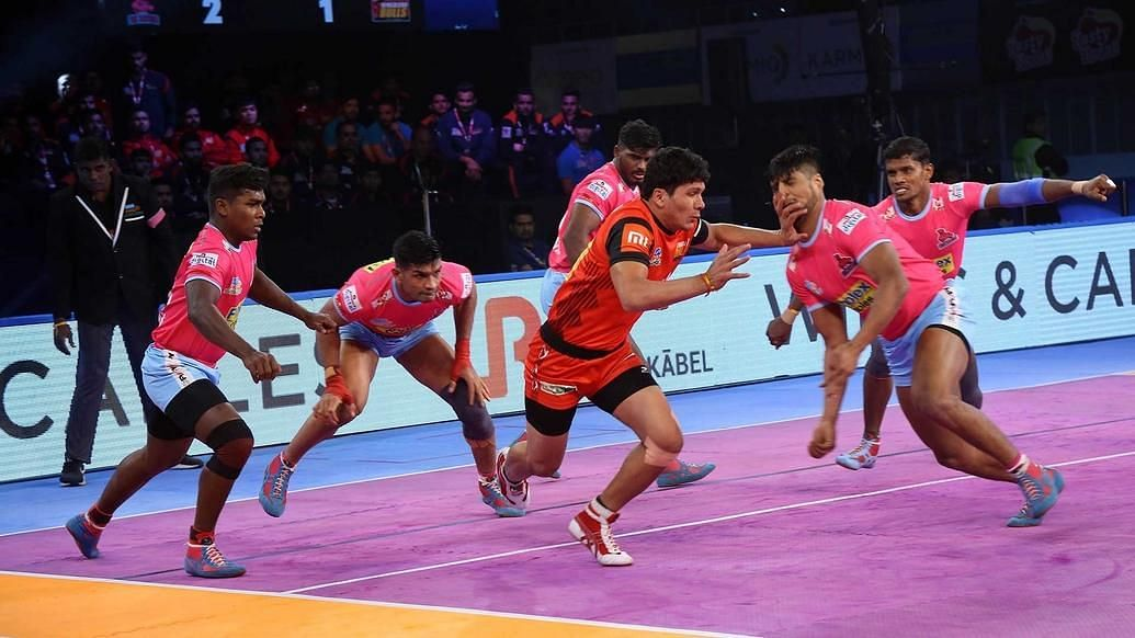 Bengaluru Bulls wrapped up their league stage campaign in style as they beat Jaipur Pink Panthers 40-32 in a Pro Kabaddi League clash.