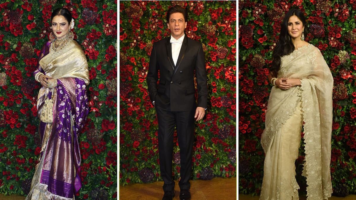 SRK, Katrina, Bachchans, Ambanis at DeepVeer's B-Town Bash