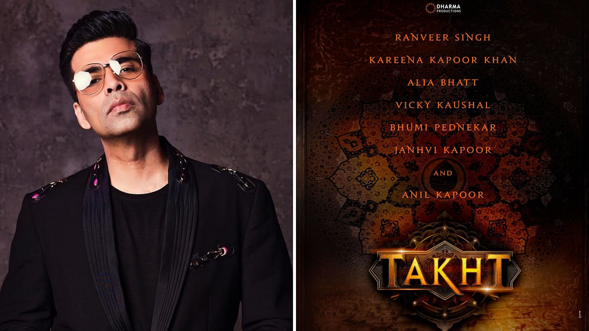 Karan Johar's next will be period drama <i>Takht</i>.