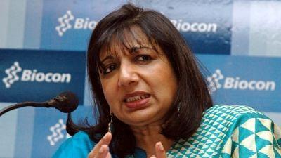 Biocon Chairperson and Managing Director Kiran Mazumdar Shaw.