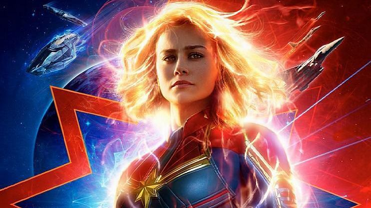 Brie Larson in and as <i>Captain Marvel.&nbsp;</i>