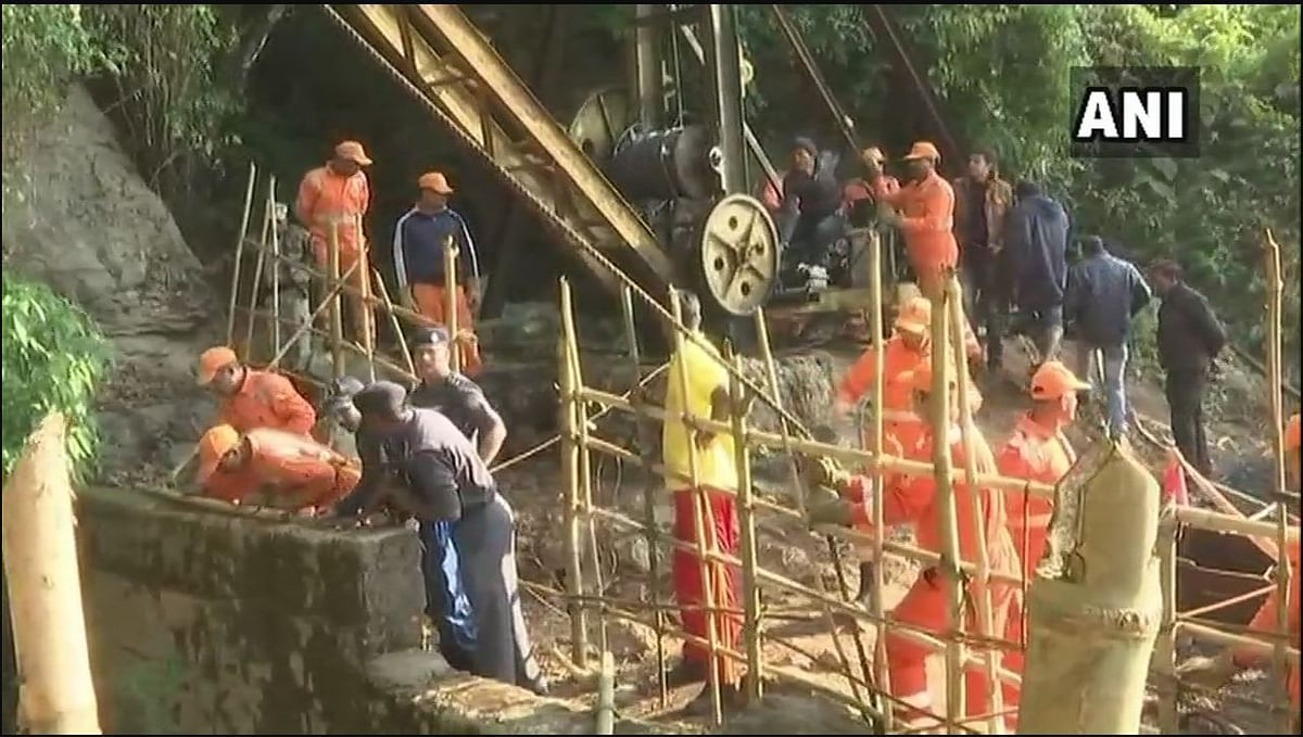 Rescue operations at the Ksan mine.