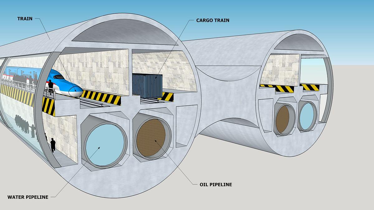 The UAE-India Subsea Train Network