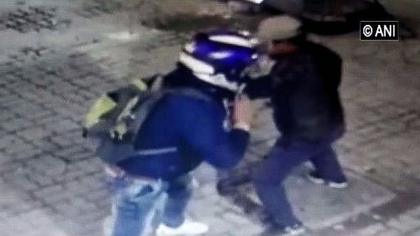 The CCTV footage of the incident in Shahdara.