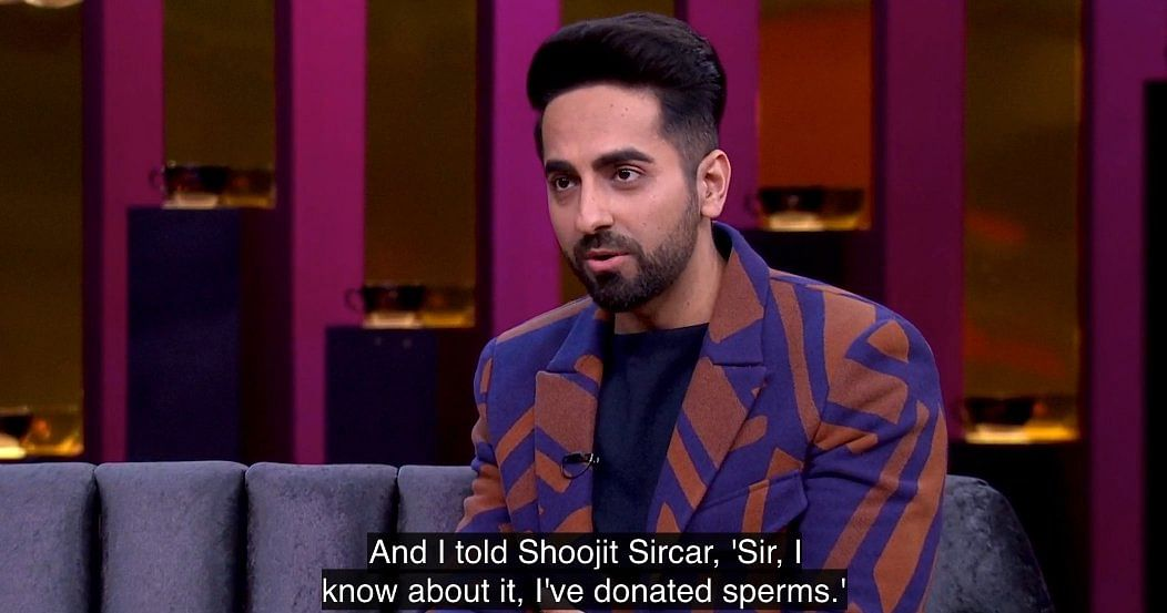 Ayushmann Khurrana has donated sperms for real.