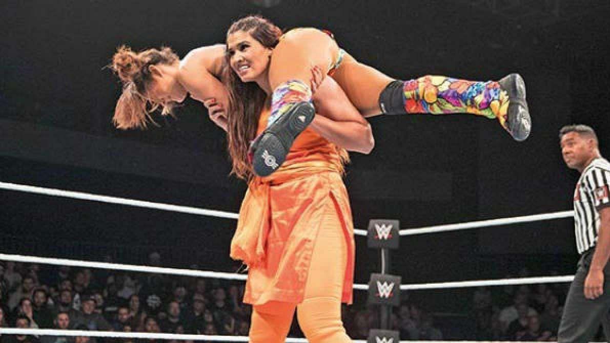 File photo of Indian WWE wrestler Kavita Verma.