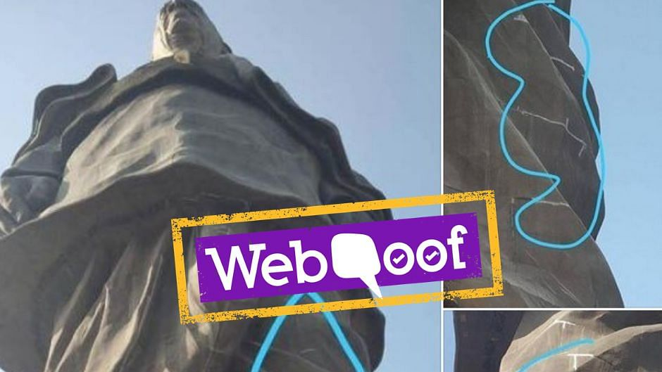 Viral Post Falsely Claims Statue of Unity Has Developed Cracks