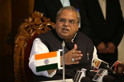 Jammu and Kashmir Governor Satya Pal Malik. (Photo: IANS)