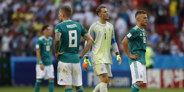 Holders Germany crashed out of the FIFA World Cup in the opening round after losing to Mexico and South Korea.