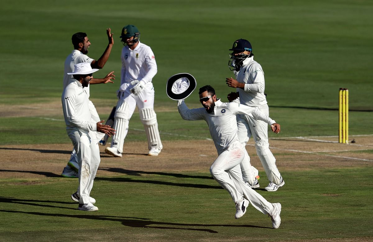 Though India managed to win the third Test against South Africa in Johannesburg, they lost the three-match Test series 1-2.