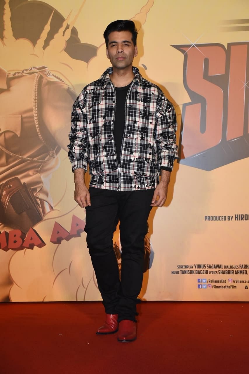 Karan Johar at the trailer launch.