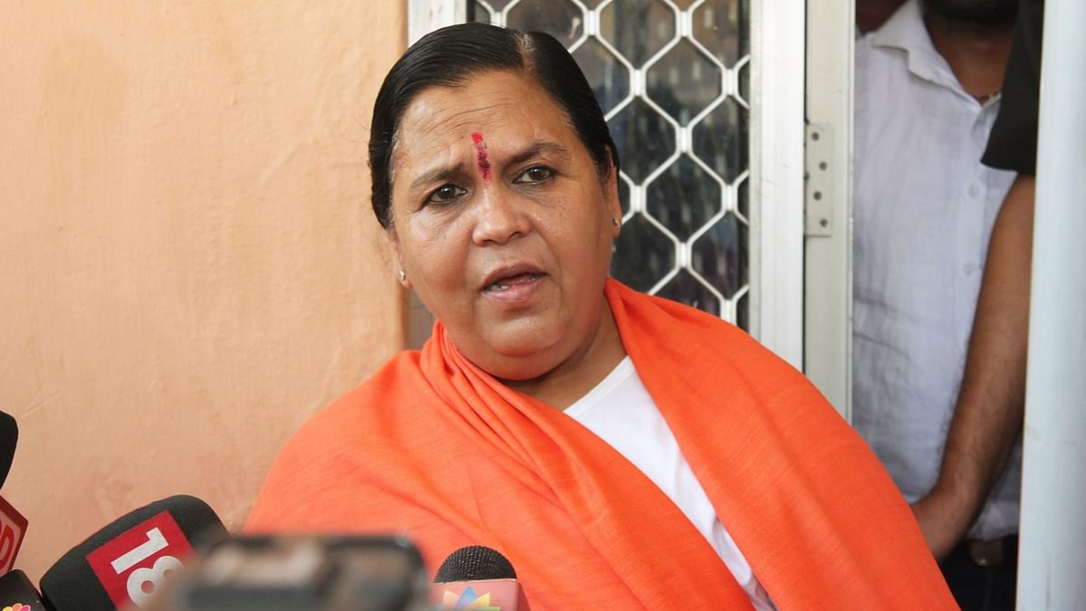 BJP Appoints Union Minister Uma Bharti as Party Vice-President