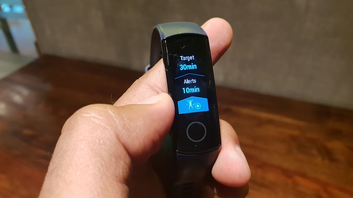 The Honor Band 4 offers different types of activity tracking.