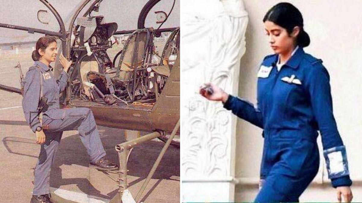 First Look at Janhvi as First Woman Combat Pilot Gunjan Saxena