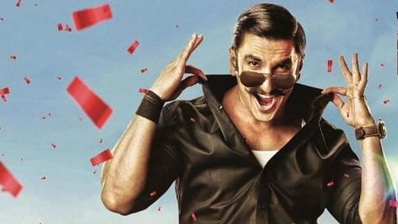 Ranveer Singh in a poster of <i>Simmba</i>.&nbsp;