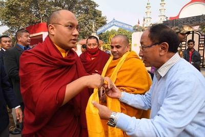 17th Karmapa, Ogyen Trinley Dorjee (L). (Photo: IANS)