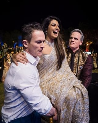Jodhpur: Actress Priyanka Chopra at her wedding with American singer Nick Jonas in Jodhpur on Dec 2, 2018. Priyanka and Nick exchanged wedding vows in a Christian wedding on Saturday. (Photo: IANS)