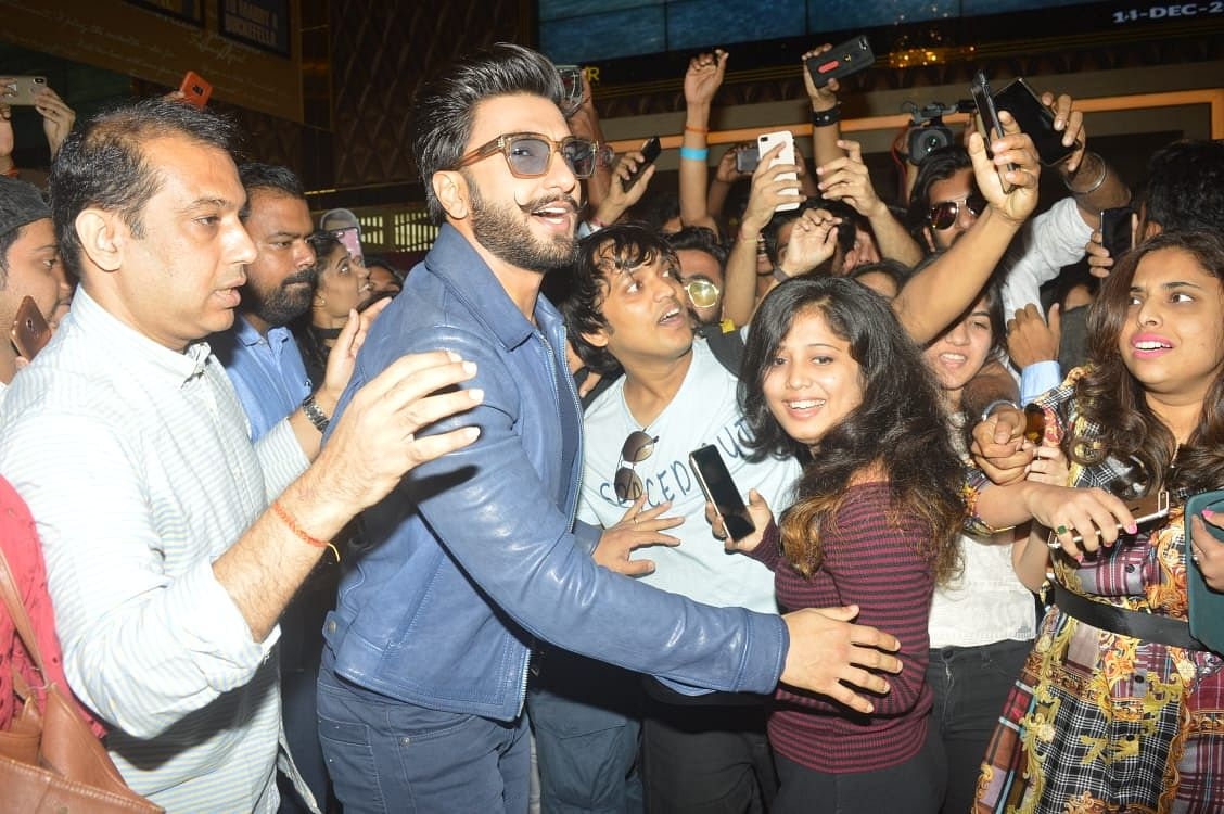 Ranveer Singh's first public appearance after his grand wedding.