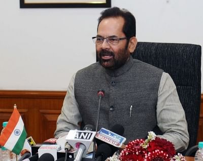 Union Minister of State for Minority Affairs (Independent Charge) and Parliamentary Affairs Mukhtar Abbas Naqvi. (File Photo: IANS)