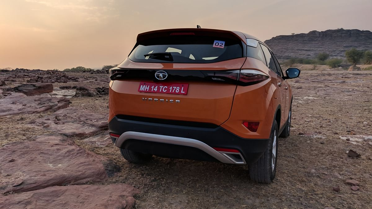 The Tata Harrier looks imposing from all angles.