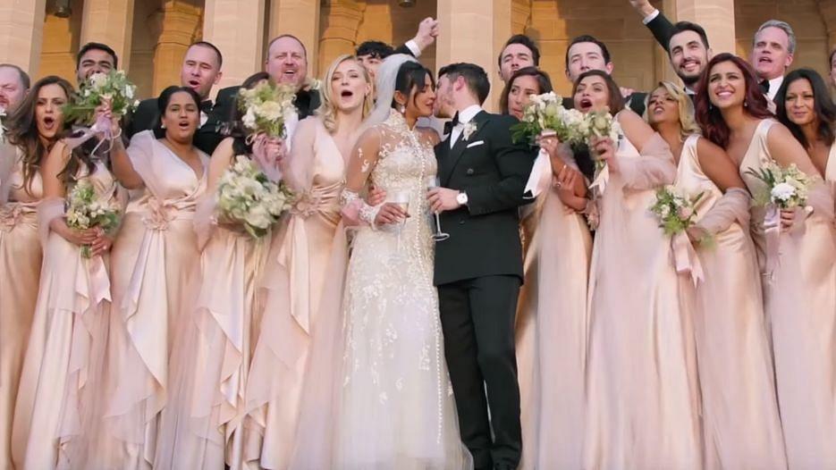 Priyanka Chopra and Nick Jonas share a kiss after their Jodhpur wedding