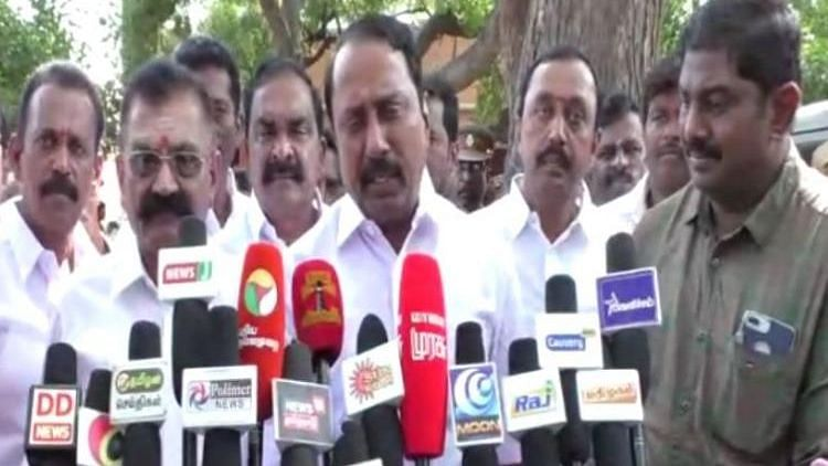 Tamil Nadu Minister for School Education KA Sengottaiyan addressing media in Gobichettipalayam, Tamil Nadu.