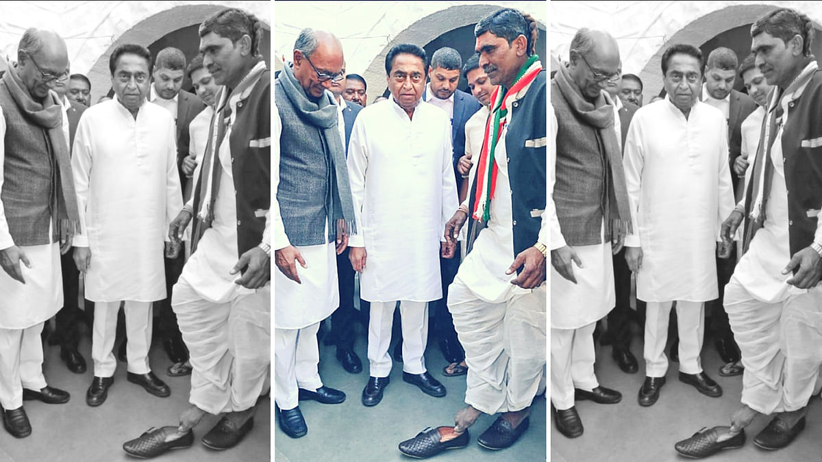 After a decade and a half, Durgalal Kirar wore shoes in the presence of Madhya Pradesh Chief Minister Kamal Nath.