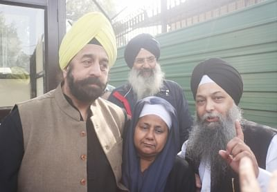 New Delhi: Nirpreet Kaur, one of the prime witnesses in the 1984 anti-Sikh riot case, at the Delhi High Court, on Dec 17, 2018. The court on Monday held Sajjan Kumar and five others guilty in a 1984 anti-Sikh riot case and sentenced the Congress leader to imprisonment for the remainder of his natural life. The court asked Sajjan Kumar to surrender by December 31. (Photo: IANS)