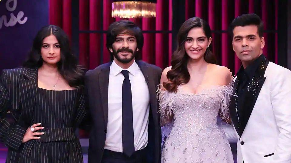 Sonam, Rhea and Harshvardhan Kapoor make their <i>Koffee With Karan </i>debut as a trio.