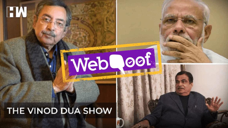 Vinod Dua Airs Edited Clip of Gadkari Video to Claim Rift in BJP