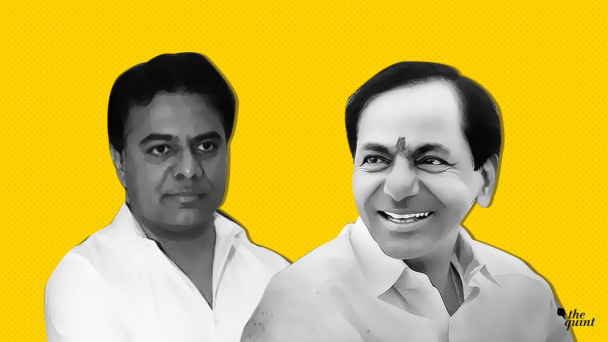 KCR (R), his son KTR (L). Image used for representational purposes.