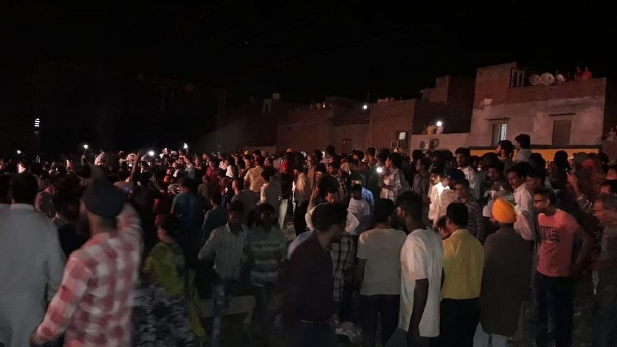 59 people were killed near Amritsar after a train mowed down a crowd standing on the railway tracks to watch Dussehra celebrations.