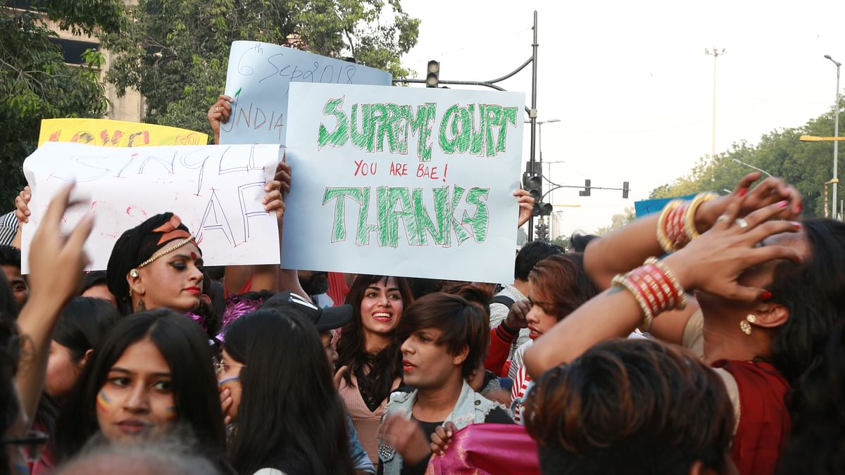 A poster from the Delhi Pride Parade, held in November 2018.