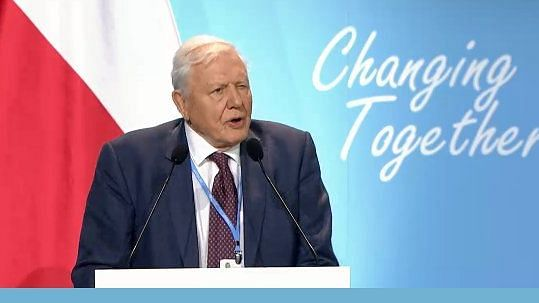 Renowned British naturalist and broadcaster Sir David Attenborough at COP24, Poland.