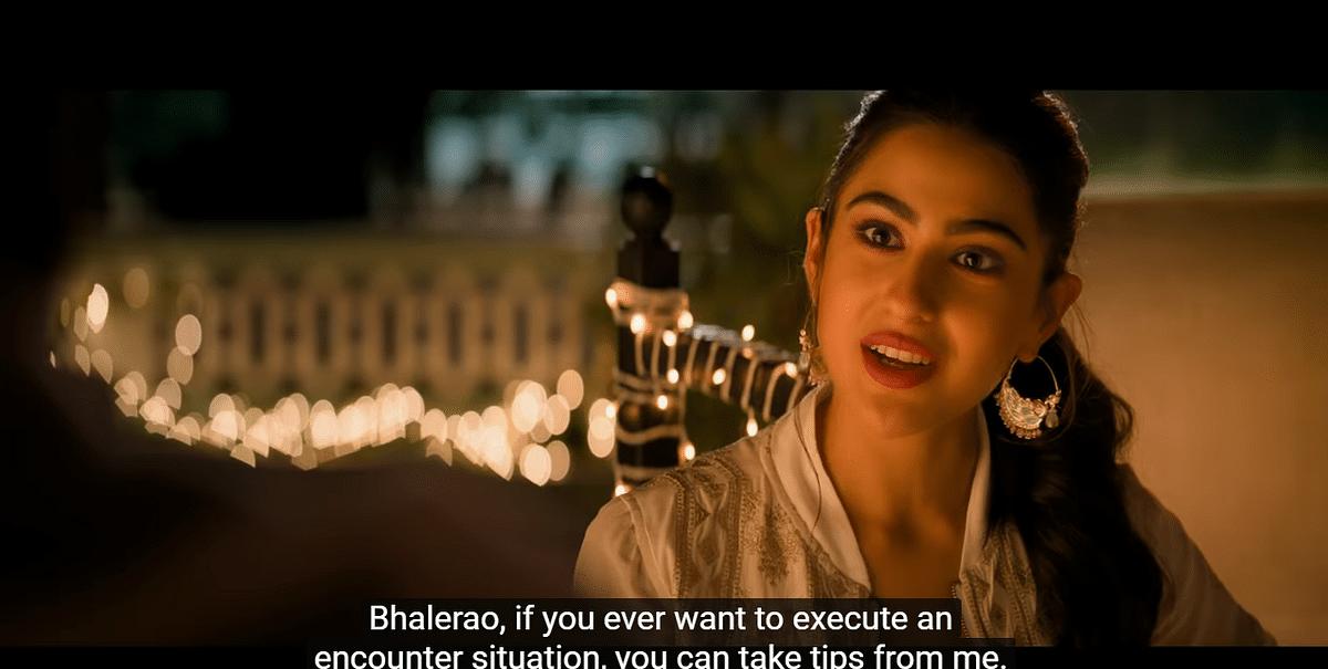 Sara Ali Khan holds her own.