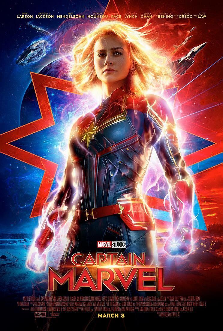 A poster of <i>Captain Marvel</i>.&nbsp;