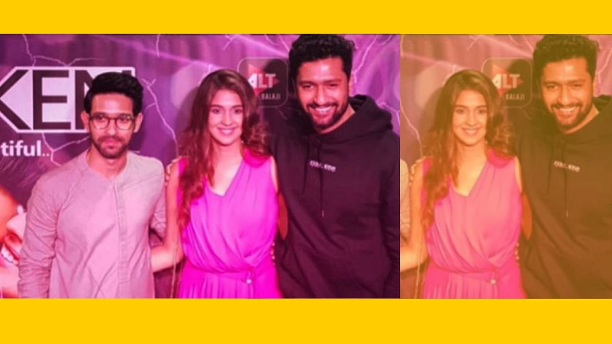 Vicky Kaushal was also in attendance during the launch of Harleen Sethi and Vikrant Massey's<i> Broken But Beautiful.</i>