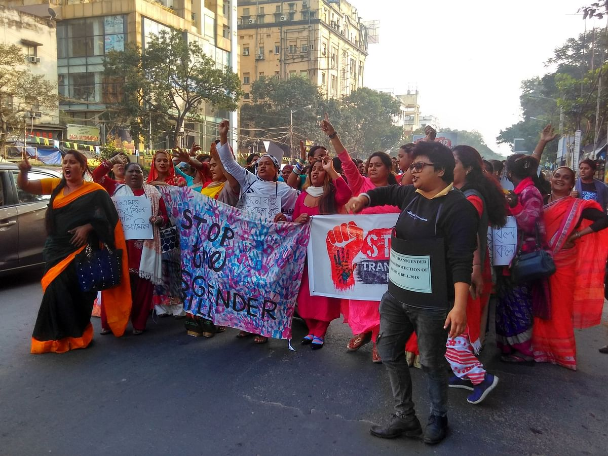 Protests erupted in parts of India against the Transgender Persons (Protection of Rights) Bill.