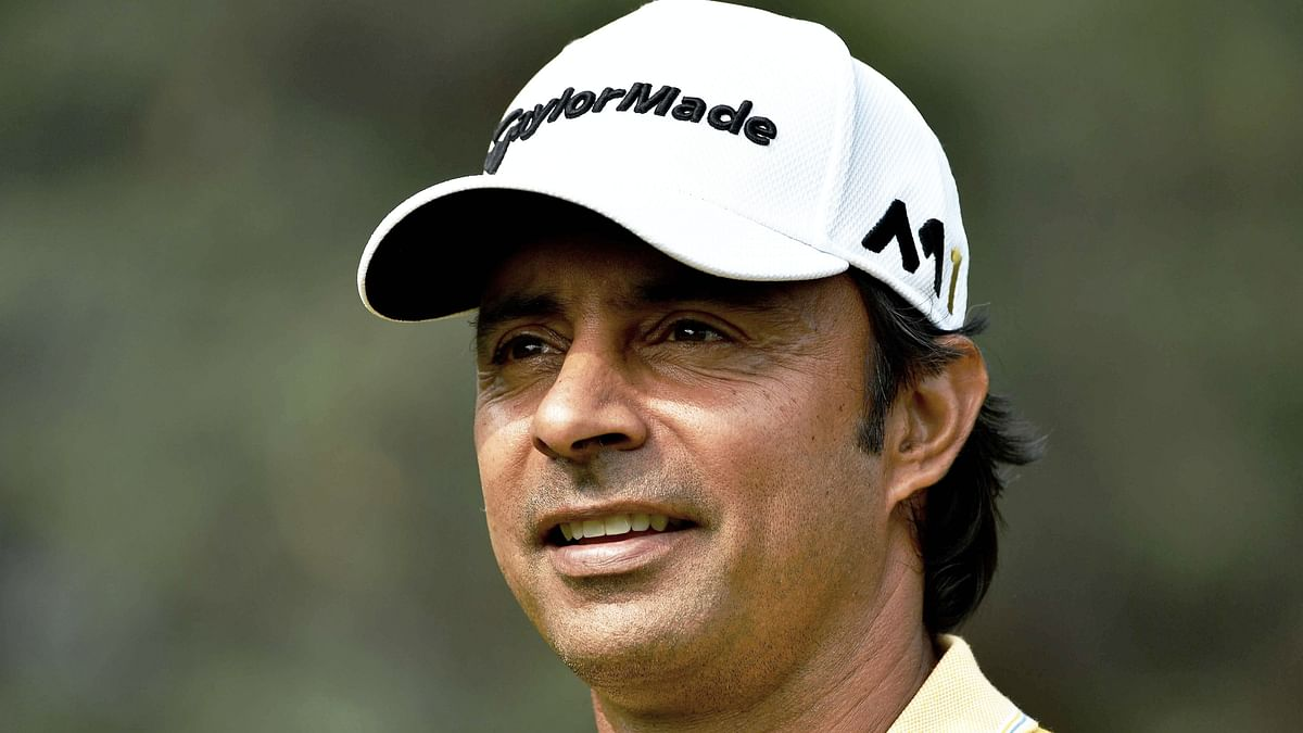 File picture of Indian golfer Jyoti Randhawa, who was arrested on poaching charges in Uttar Pradesh on 26 December.