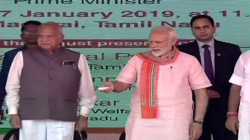 Modi's TN Visit: #MaduraiThanksModi and #GoBackModi Vie on Twitter