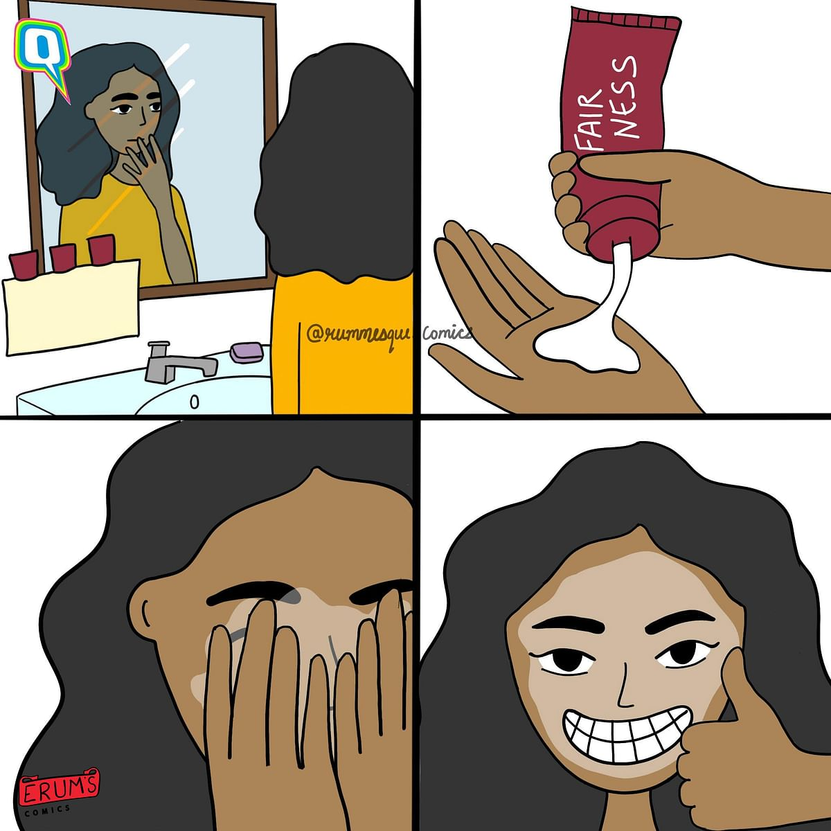 Erum's Comics: The Secret to Fair Skin