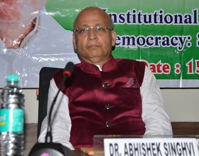 Congress leader Abhishek Manu Singhvi. (Photo: IANS)