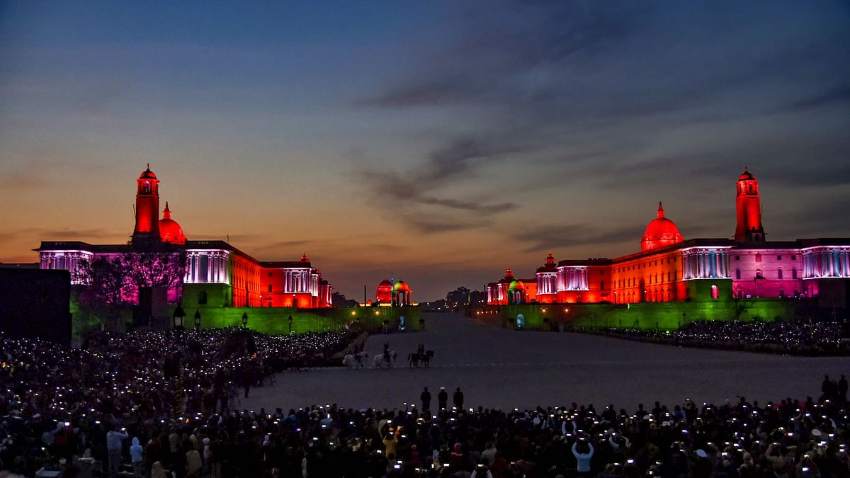 In Pics: Delhi's Vijay Chowk Lights Up for Beating Retreat